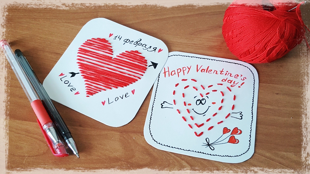 Stitched Heart Card Easy Valentine S Day Cards For School Kids