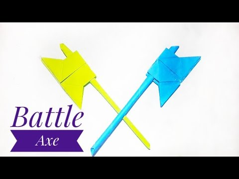 Origami Battle Axe|How to Make a Paper Battle Axe  Easily |Origami Battle Axe|Stop Motion Lover