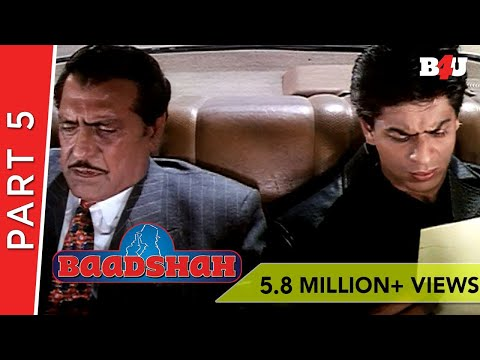 Baadshah | Shahrukh Khan, Twinkle Khanna, Johnny Lever | Part 5 | B4U Mini Theater