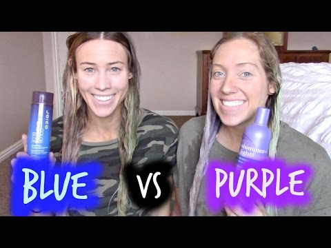 Purple Vs Blue Shampoo What Should You Be Using On You Hair Youtube