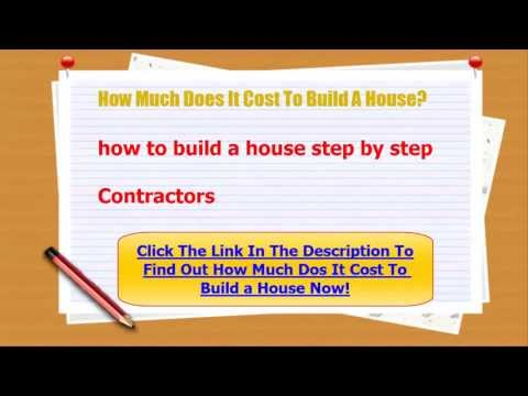 How Much Does It Cost To Build A House Youtube