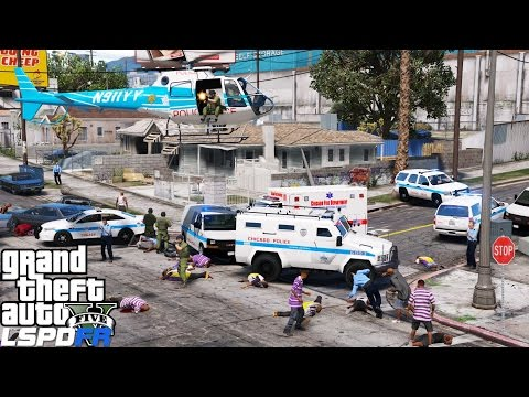 GTA 5 LSPDFR Police Mod 337 | Chicago PD Detective & Swat Live Stream | Major Gang & Drug Take Down