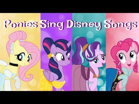 Ponies Sing Disney Songs!