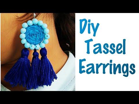 Diy Tassel Earrings|tassel earrings|diy earrings|