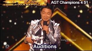 Kenichi Ebina dancer FANTASTIC & Mel B Booed (Audition | America's Got Talent Champions 4 AGT