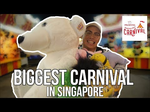 BIGGEST CARNIVAL IN SINGAPORE (Prudential marina bay carnival)