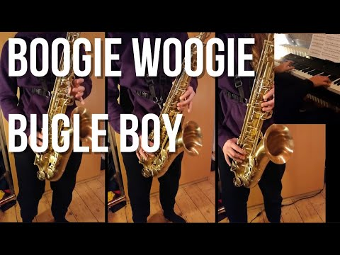 Bing Crosby & The Andrews Sisters - Boogie Woogie Bugle Boy (saxophone and piano cover)