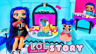 LOL STORY Episode 6 | OMG DOWNTOWN B.B. FAMILY Morning Routine Camping Car Glamper! City Boi malade?
