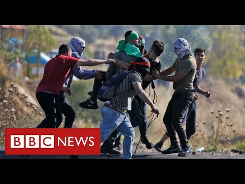 Violent clashes in West Bank as Palestinians protest over Israeli air strikes in Gaza - BBC News