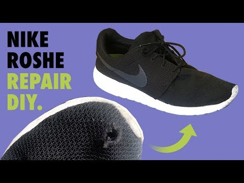 nike-roshe-mesh-(hole)-repair---fix-diy