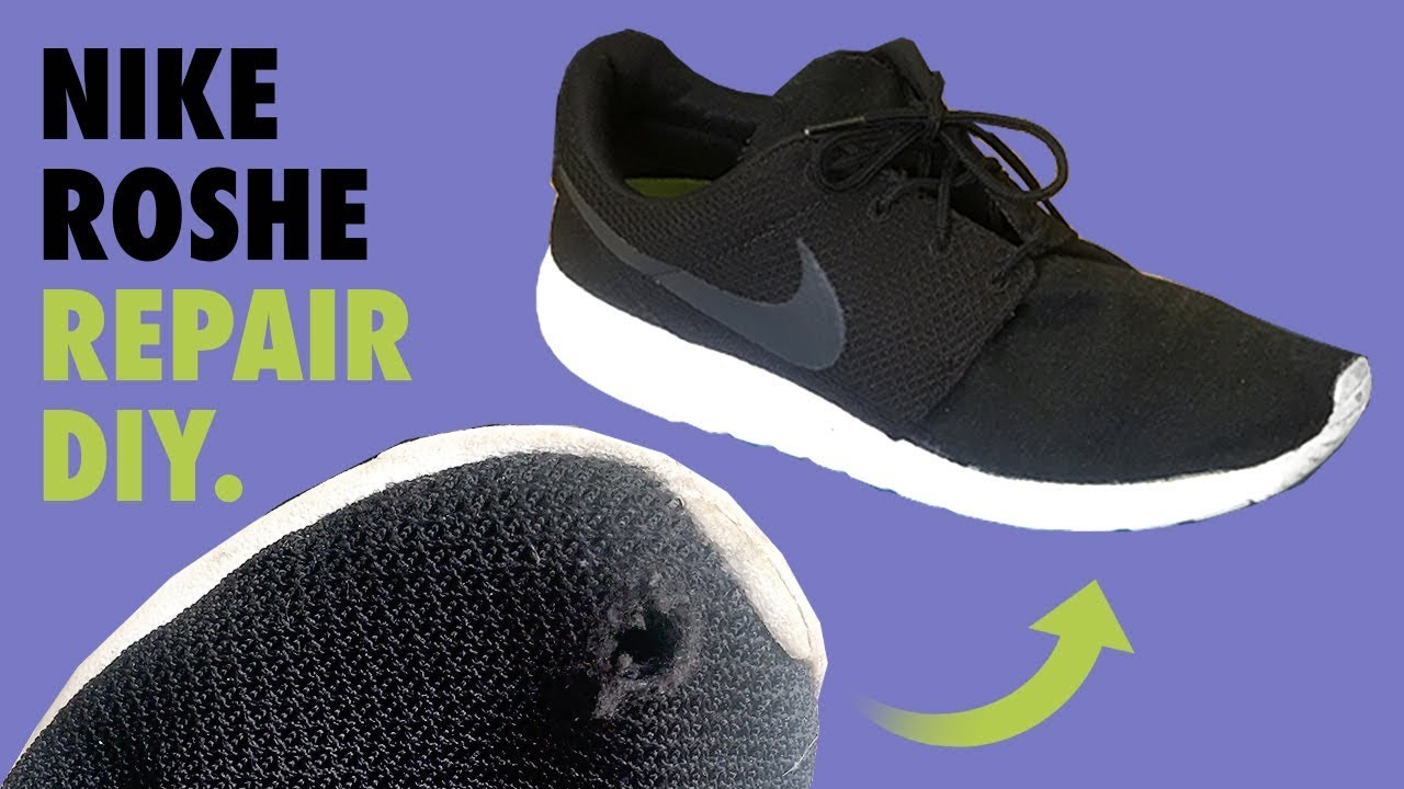 590b6e200af5 NIKE ROSHE Mesh (hole) Repair - FIX DIY - YouTube