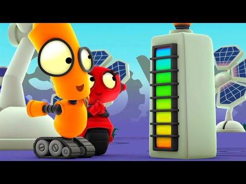 TOWER OF POWER   Rob The Robot   Toddler Learning Video