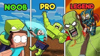 Minecraft - ZOMBIE SLAYER CHALLENGE! (NOOB vs PRO vs LEGEND)
