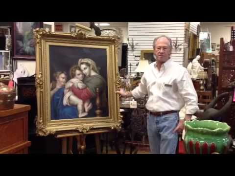 Art Gallery, Cardinal Cushing's Madonna & Child Catholic religious antique painting.