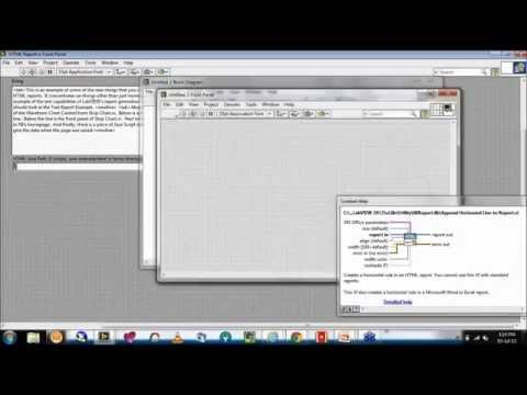 Report Generation Toolkit For Microsoft Office[Excel] In LabVIEW