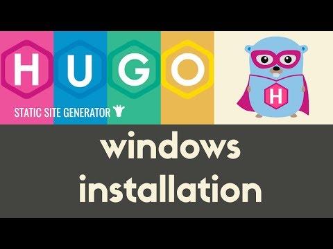 Installing Hugo on Windows | Hugo - Static Site Generator | Tutorial 2
