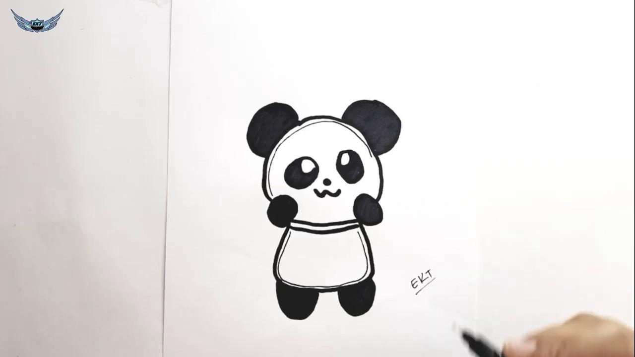 Cocuklar Icin Panda Nasil Cizilir Kolay Resim Cizme Youtube
