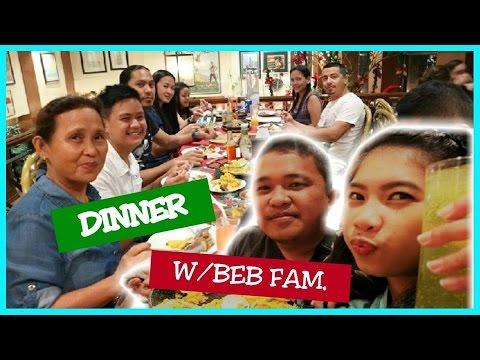 DINNER W/ HIS FAMILY (Bistro Rosario) + NAKAPRESIDENTIAL TABLE PA! - 12/22/2016