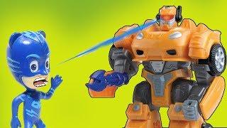 Мультики с игрушками Герои в масках. Машинка - трансформер. Мультфильмы для мальчиков про машинки.