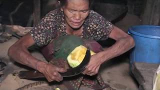 Traditional way of cooking pumpkin ll   pumpkin food recipe ll primitive lifestyle