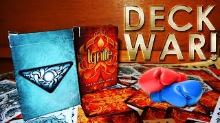 Deck War - Ignite Playing Cards VS Fathom Playing Cards