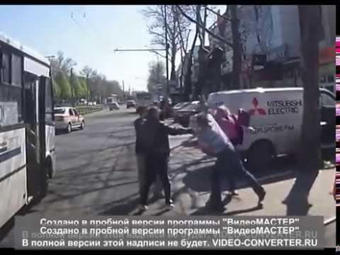 Драка двух водителей в Краснодаре
