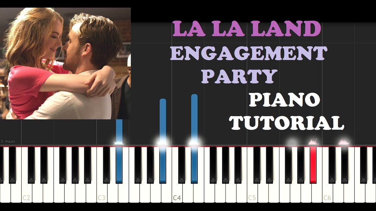 la la land engagement party piano tutorial youtube. Black Bedroom Furniture Sets. Home Design Ideas