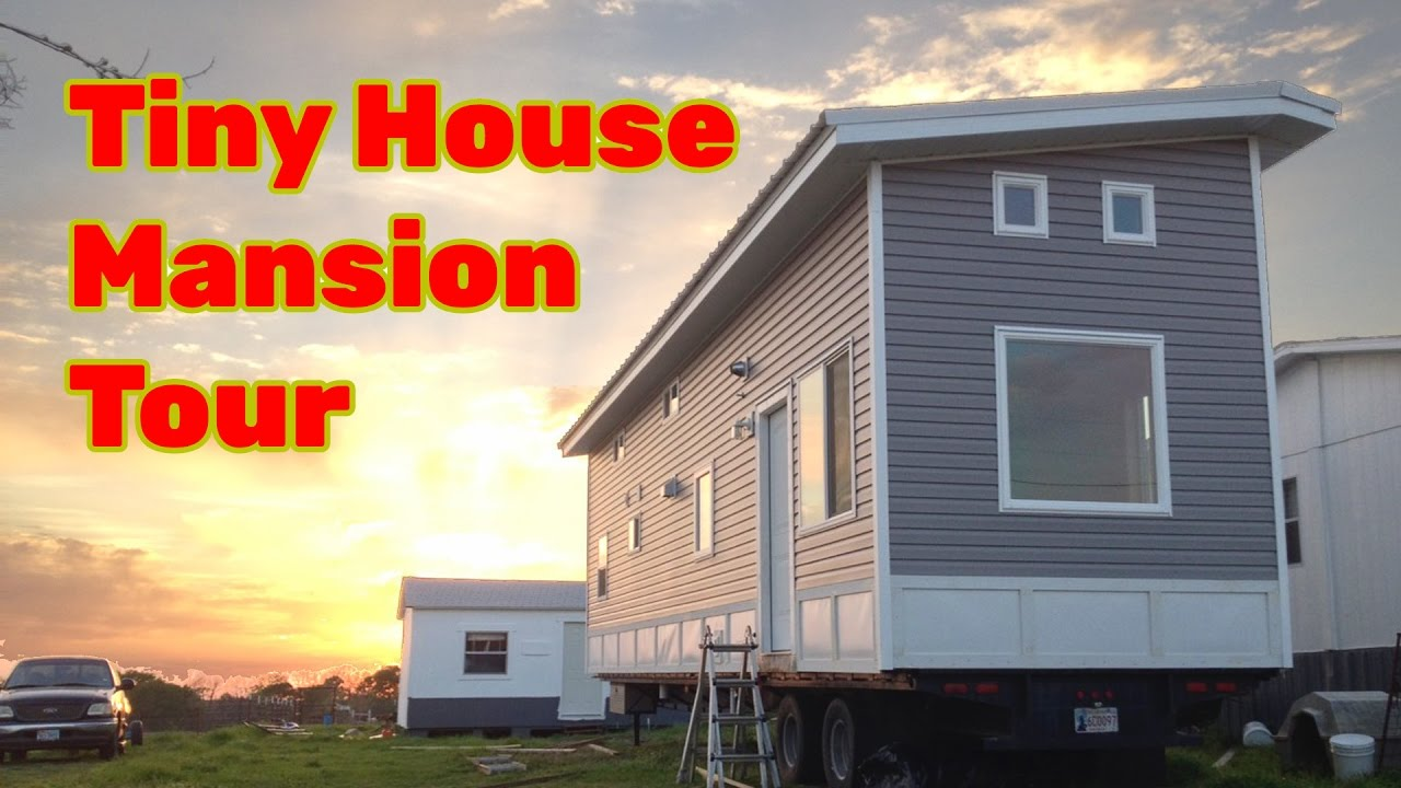 Largest Tiny House ethan waldman with his tiny house on wheels Worlds Biggest Tiny House