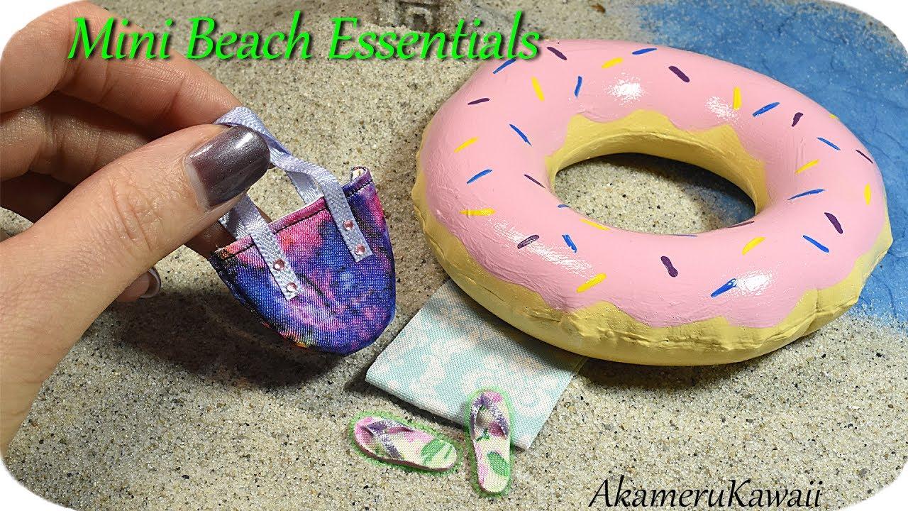 How To Mini Beach Donut Float Bag Flip Flops Doll Beach
