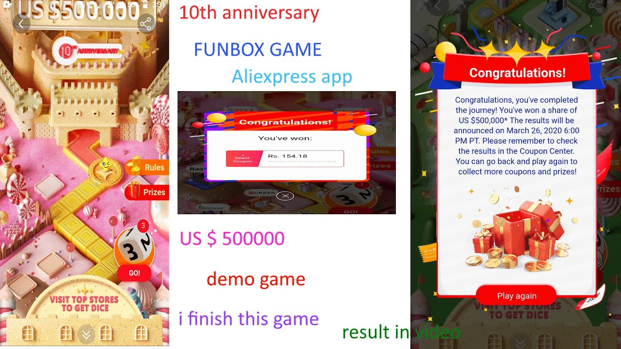 Aliexpress Funbox Game Anniversary Funbox Game Review Of Funbox Game Aliexpress Coupon Code Youtube