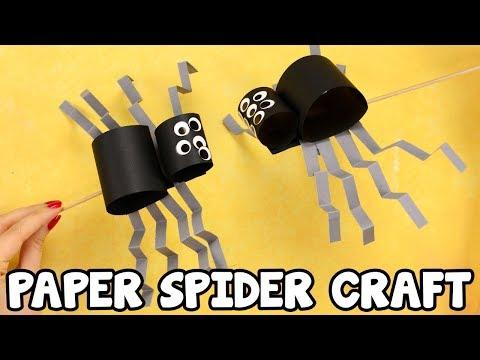 Simple Paper Spider Craft for Kids - fun Halloween craft idea