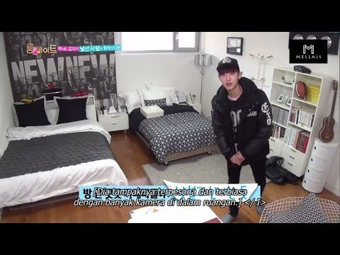 [INDO SUB] CHANYEOL EXO At Roomates (First Time And Show The Room)