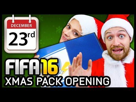 XMAS ADVENT CALENDAR PACK OPENING #23 - FIFA 16 ULTIMATE TEAM