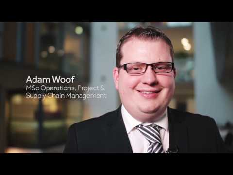 Adam Woof: MSc Operations, Project And Supply Chain Management Graduate