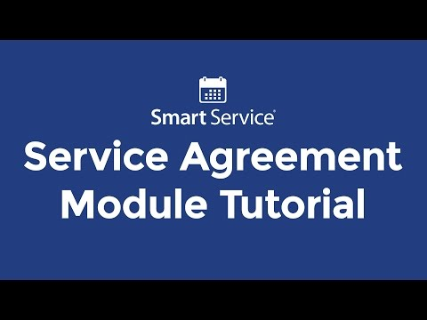 Service Agreement Module Tutorial