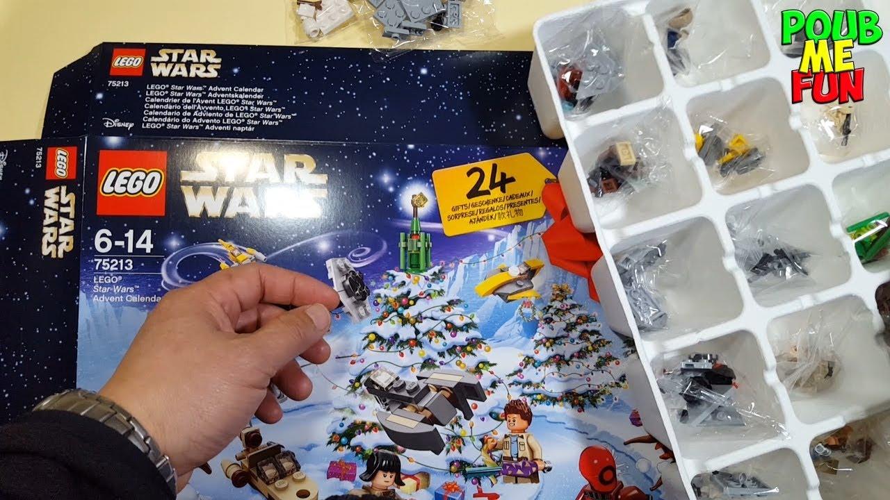 Calendrier De L Avent Lego City 2020.Unboxing New 2018 Lego Star Wars Avent Calendar Set 75213 307 Pieces