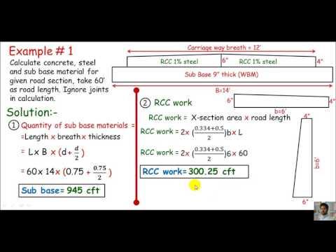 English- Quantity survey/ materials calculation for RCC