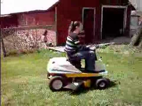 Cub Cadet Riding Mower Being Driven Around Our Farm Youtube