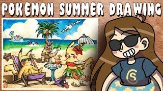 Pikachu Summer Vacation- Free Draw Friday