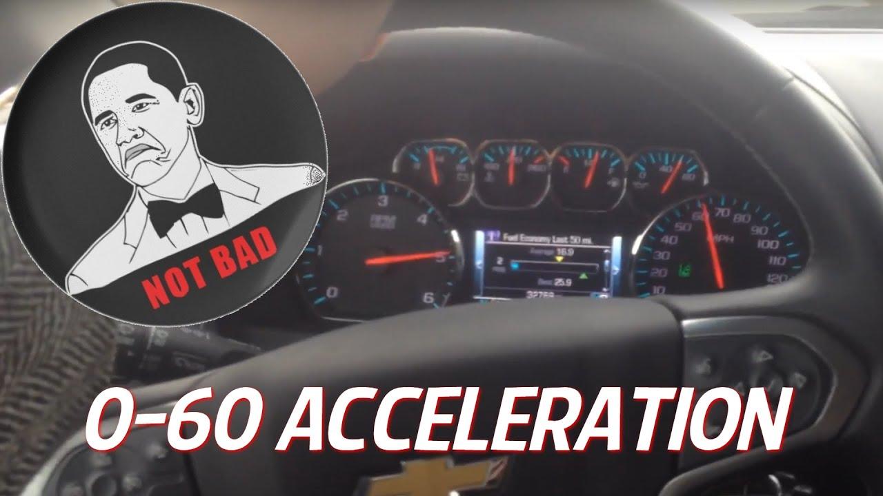 2015 2016 chevrolet tahoe 5 3l v8 0 60 mph acceleration