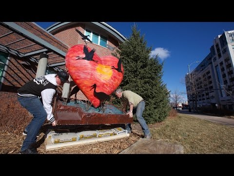 Nebraska by Heart Sculptures Displayed on Campus