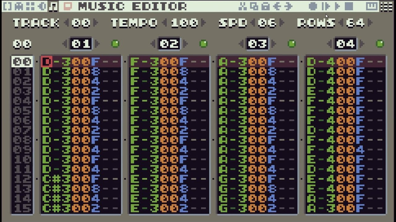 Tic 80 Music Editor Convoluted Test Youtube