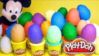 Play Doh Eggs Mickey Mouse Marvel Heroes Cars 2 Dora The Explorer Surprise Eggs