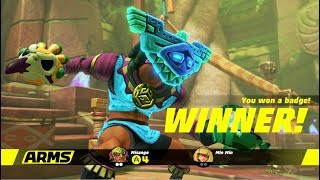 ARMS Playthrough Part 18 (EXTRA #8 - 4.0 Update with Misango!) thumbnail
