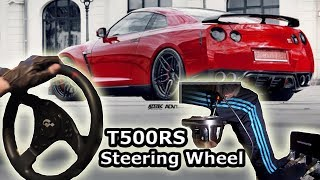 Nissan GTR35 Street Racing - City Car Driving, t500 rs th8rs Steering Wheel Gameplay. HD 1080p 2014
