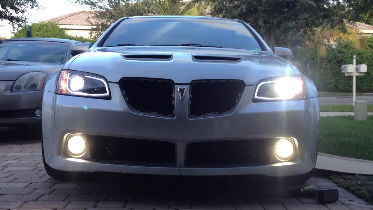 Pontiac G8 Spec D Head Light Conversion With Mods. Turn On CC For Info  During Video.   YouTube