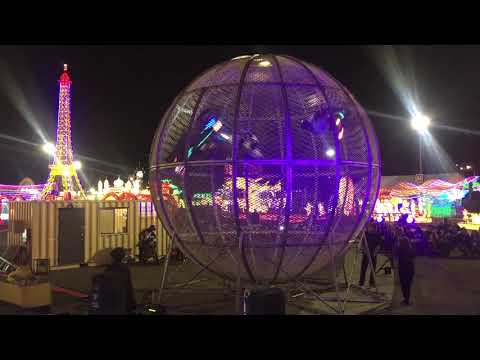 Motorcycle Globe at Global Winter Wonderland San Diego