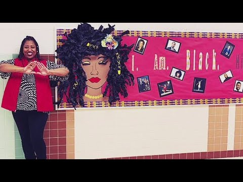 Black History Month: Hallway displays at Western Branch Middle School