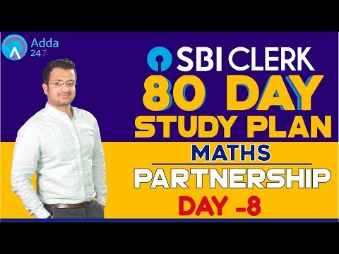 SBI CLERK PRE 80 Day Study Plan -  Partnership By Sumit Sir - Day -8