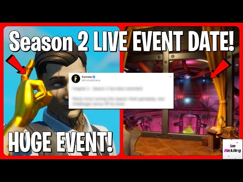 *NEW* Season 2 Live Event DATE! (WHEN It Will HAPPEN) | Fortnite Chapter 2